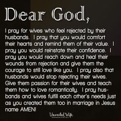 Love This! Prayer Of The Day – Wives Who Feel Rejected -