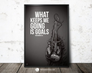 Quote Print, Muhammad Ali Quote, In spirational quotes poster, Boxing ...