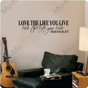 Quote Wall Decal Decor Love Life Words Large Nice Sticker Text /Quote ...