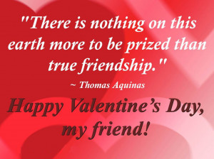 Valentine's Day Quotes For Friends with Image