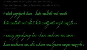 elvish tattoo quotes