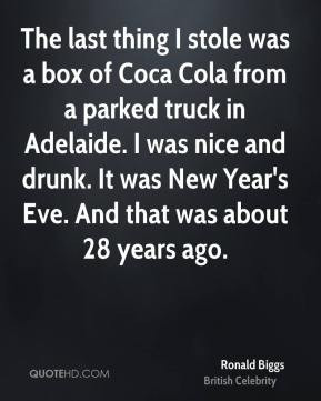 The last thing I stole was a box of Coca Cola from a parked truck in ...