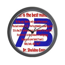 blue-red, 73-quote overlapped Wall Clock for