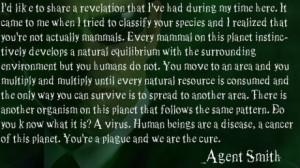 Matrix Agent Smith Quote