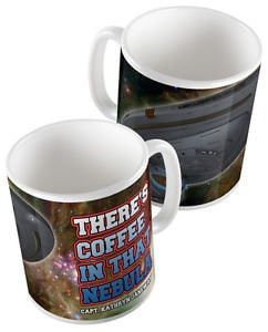 ... Star Trek: Voyager - There's Coffee in that Nebula Janeway Quote Mug