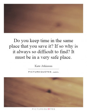 Do you keep time in the same place that you save it? If so why is it ...