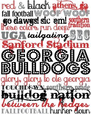 Georgia Bulldogs printable