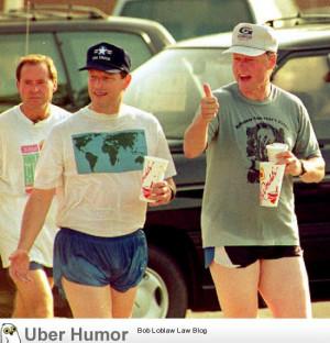 Al Gore and Bill Clinton in short shorts