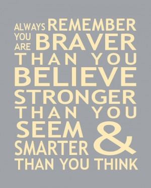 Print Christopher Robin Pooh Quote You Are Smarter Than You Think ...