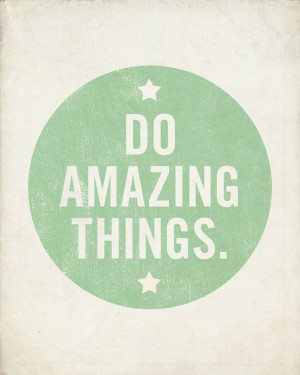 Do Amazing Things Wood Block Art Print by LuciusArt on Etsy