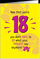 Happy 18th Birthday Funny Quotes 18th birthday card