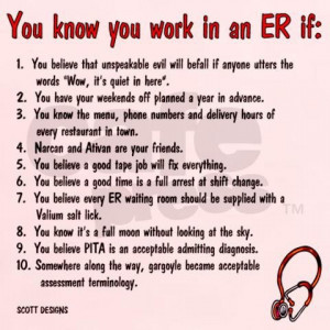 Funny ER Nurse Quotes