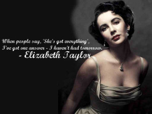 Elizabeth Taylor Quotes HD Wallpaper 2