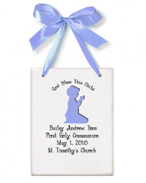 first holy communion boy silhouette announcement plaque