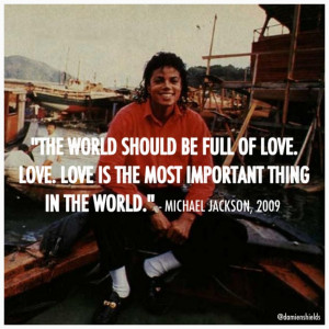 Thread: Famous Michael Jackson Quotes