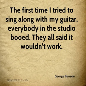 George Benson - The first time I tried to sing along with my guitar ...