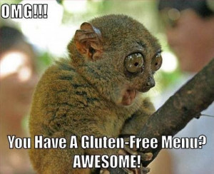 OMG!! Gluten free menu!!