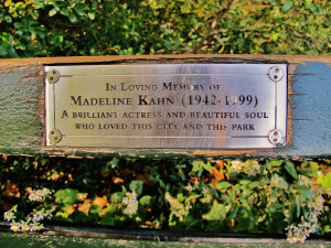 Madeline Kahn Clue Madeline kahn bench central