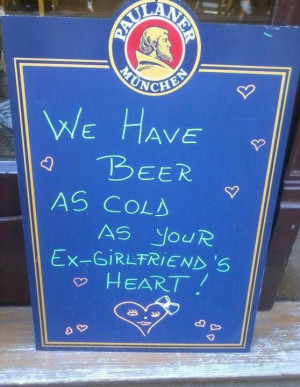 Very cold beer