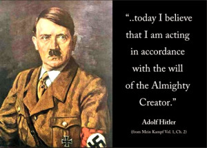 The Monster, Adolf Hitler and The Evil, Jews