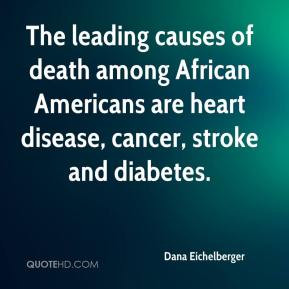 The leading causes of death among African Americans are heart disease ...