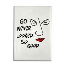 60th birthday sexy woman Rectangle Magnet for