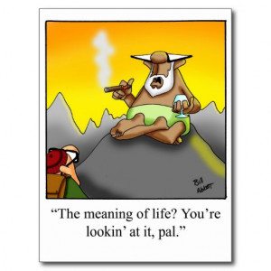Funny Cigar Wise Man Cartoon Gifts! Post Card