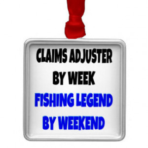 Fishing Legend Claims Adjuster Ornament
