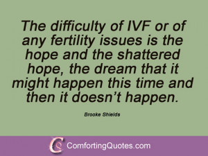 ... it might happen this time and then it doesn't happen. Brooke Shields