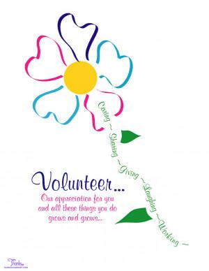 Volunteer Appreciation Thank You Poems