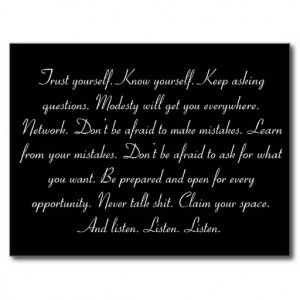 Graduation Inspirational Quote Postcard