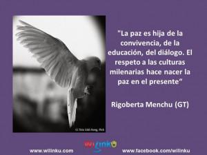 Rigoberta Menchú Tum es una líder indígena guatemalteca, miembro ...