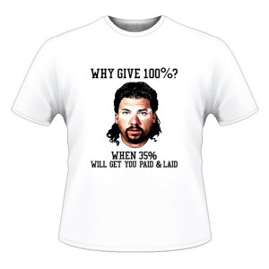 Kenny Powers 100% Motivation Funny T Shirt