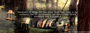 Eventually all things fall into place- Life Quote FB Cover