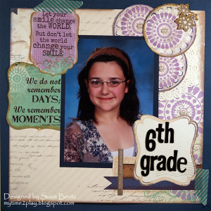 School Picture Layout with Quick Quotes' Dusty Road