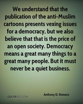 that the publication of the anti-Muslim cartoons presents vexing ...