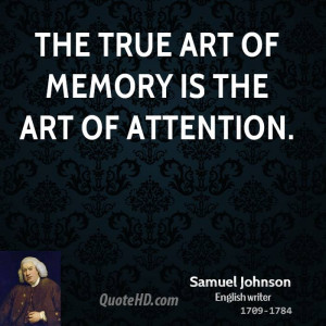 Samuel Johnson Art Quotes