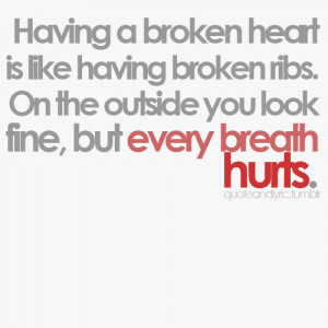 Having a broken heart..