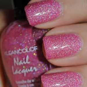 HOLO PINK Glitter Nail Polish Holographic Glittering Color