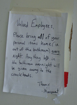 Given To Crack Heads - Funny Note