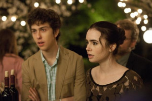 Nat Wolff and Lily Collins in 'Stuck in Love'