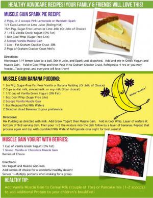 AdvoCare Recipes: Spark Pie, Banana Pudding