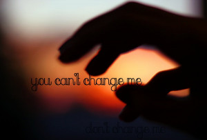you can't change me by Helen-Carter