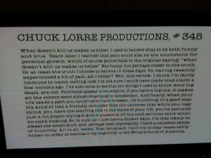 ... it in response to Charlie Sheen allegedly calling Chuck Lorre names