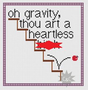 The Big Bang Theory Sheldon gravity quote - counted cross stitch PDF ...