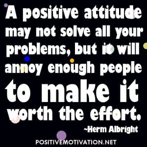 Short Positive Attitude Quotes