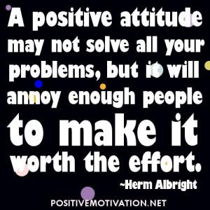 Short Positive Attitude Quotes