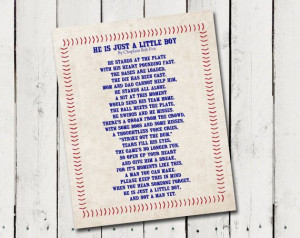 He's Just a Little Boy Poem printable