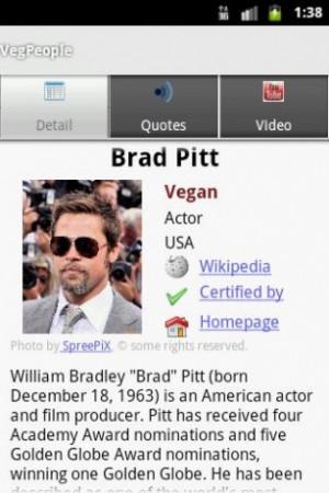 Más grande - Captura de pantalla de VegPeople Vegetarianos famosos ...
