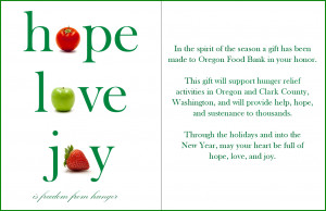 Support Hunger Relief for the Holidays.